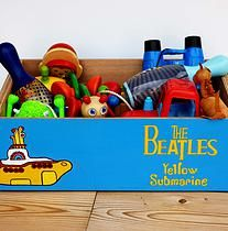 The Beatles wooden storage box perfect as toy chest as well