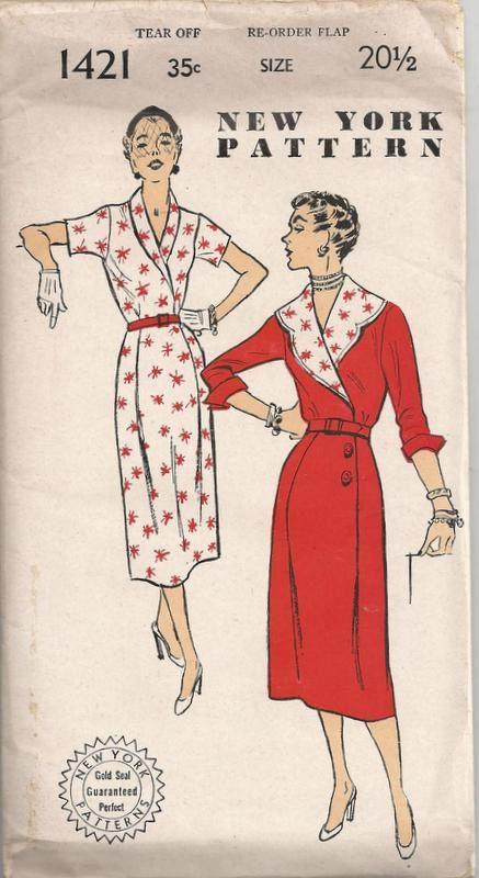 1940s Ladies Smart Dress New York Pattern 1421 Size by Redcurlzs, $15.00