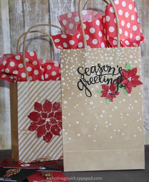 Nichol Spohr Magouirk: Simon Says Stamp Holiday Card Kit | Tags & Bags