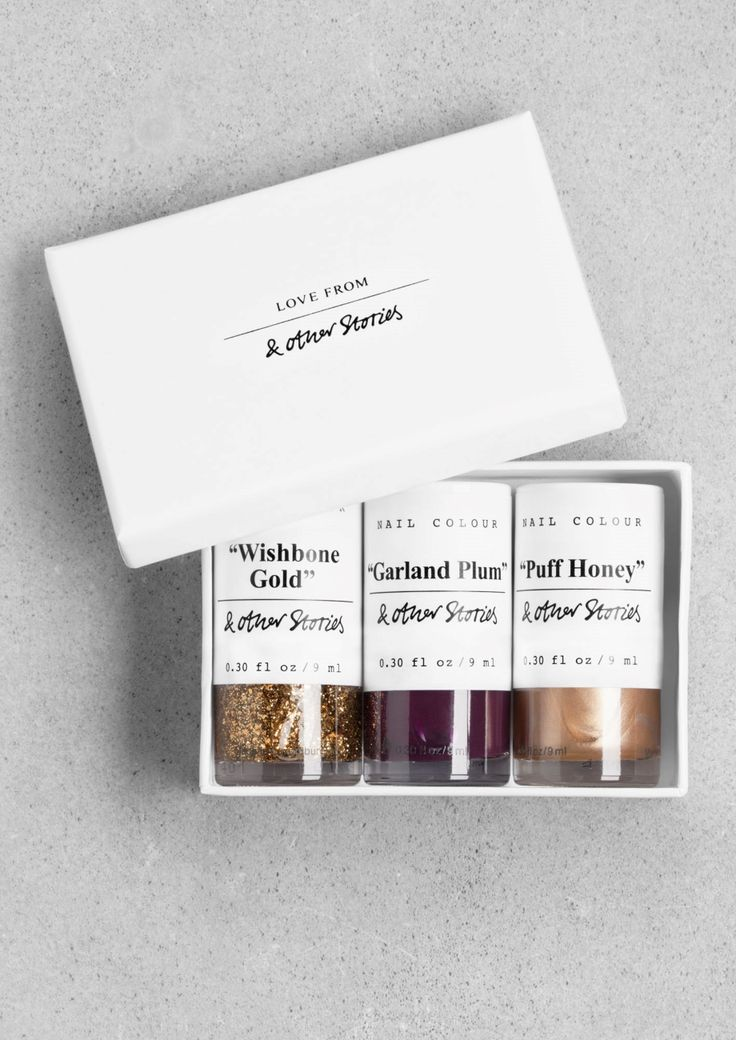 """& Other Stories   Nail Colour Gift Set - """"Three Wishes""""."""