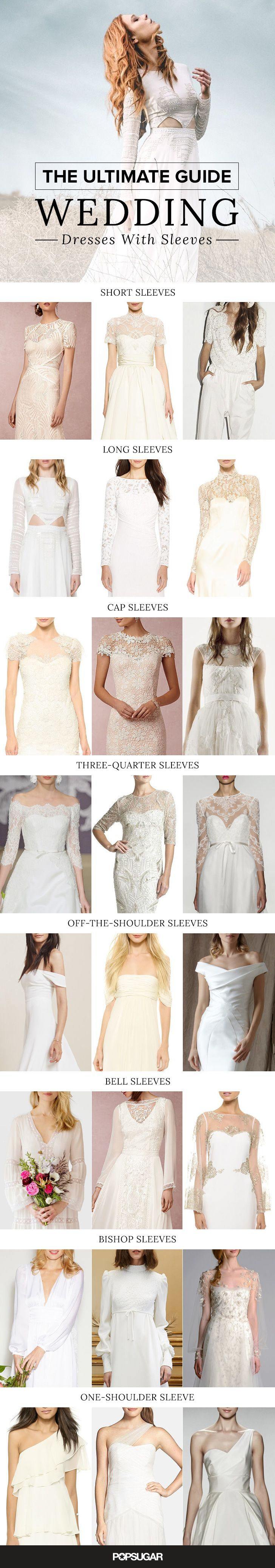 If it's time for you to start thinking about your wedding dress, why not consider one with sleeves?