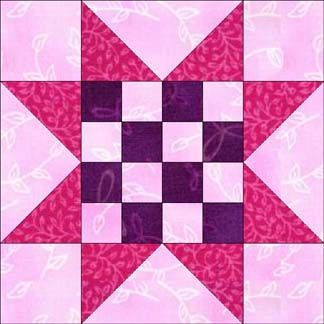 16 Patch Sawtooth Star 12 1 2 Inch Block Quilt Block