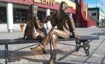 Памятник читающей паре. Ноябрьск :: Геокэшинг ::
