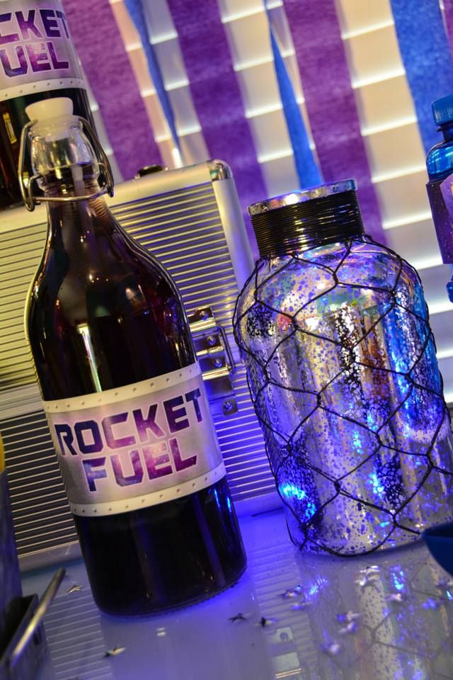 Guardians of the Galaxy Party with Rocket Fuel (purple kool aid)