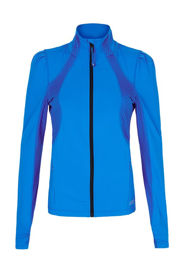 This slim-fit jacket is great for outdoor runs & workouts when the weather gets cool.