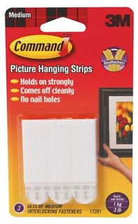 Command Strips are essential for hanging items on dorm walls!