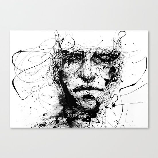 lines hold the memories Canvas Print by Agnes-cecile. Worldwide shipping available at Society6.com. Just one of millions of high quality products available.