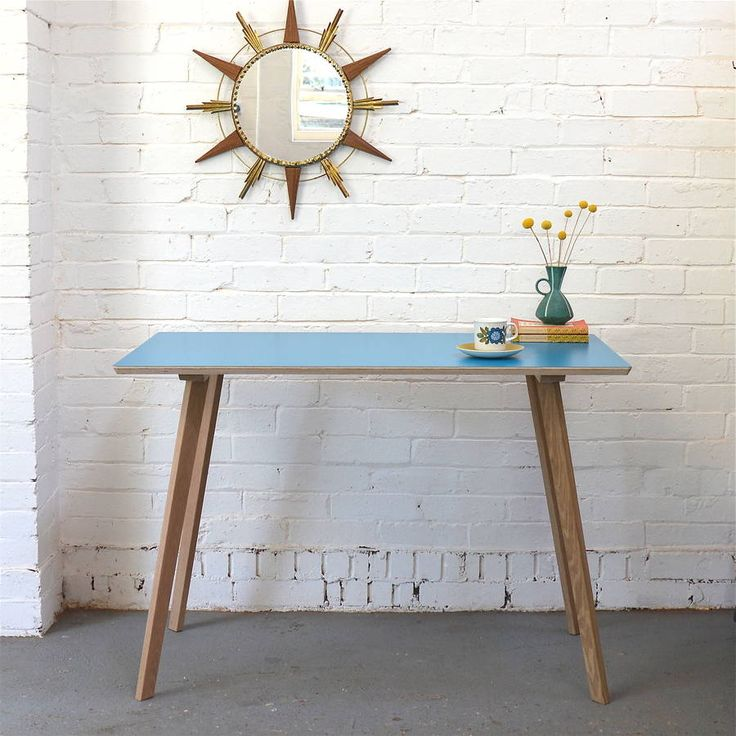 perky formica table, teal by winter's moon | notonthehighstreet.com