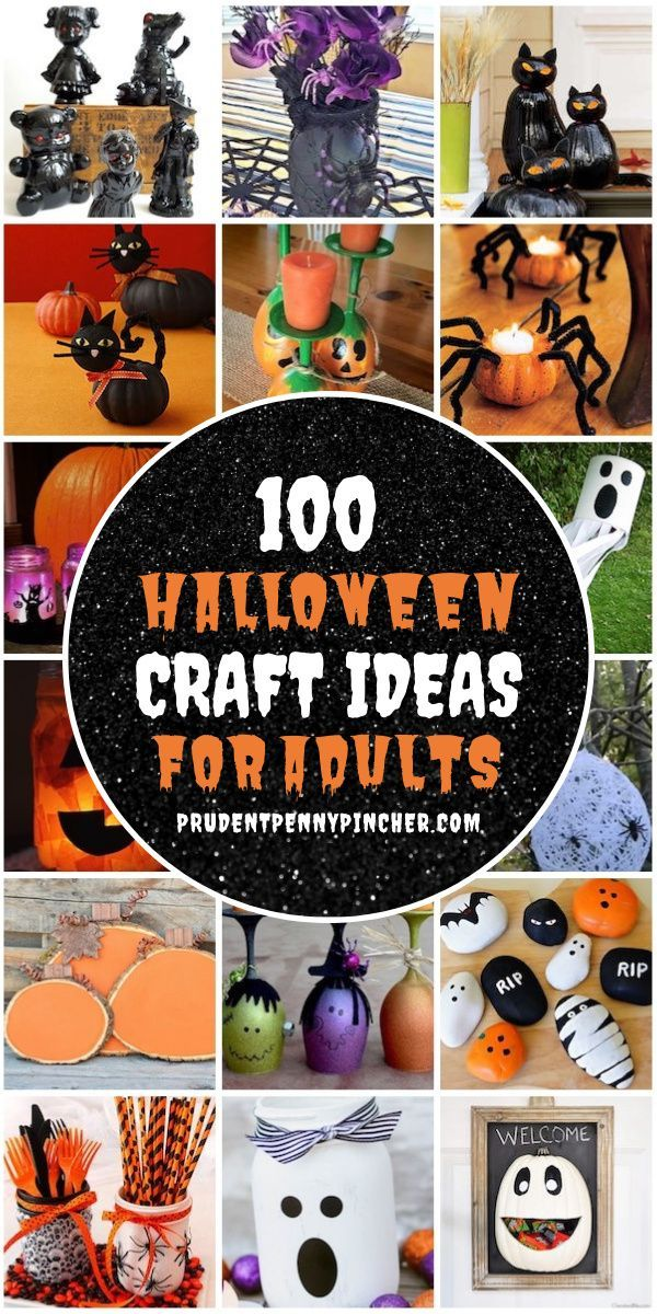 Halloween Craft Ideas 2020 100 Best Halloween Crafts for Adults in 2020 | Halloween crafts