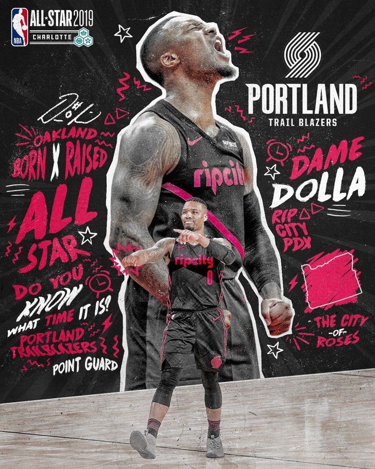Damian Lillard in 2020 Nba basketball art, Nba, Nba