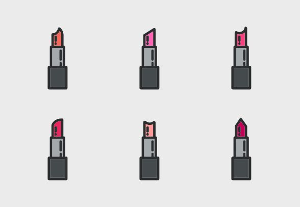 Download these cute lipstick vector icons and more at https://www.iconfinder.com/lsedesigns