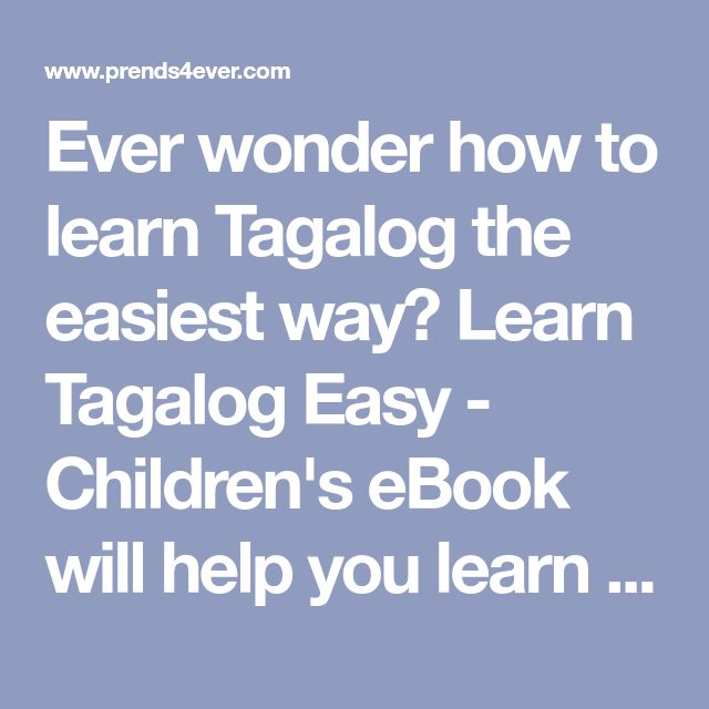 How To A Tagalog Ebook