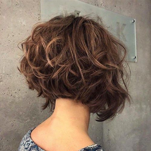 Layered-Curly-Hair Short Layered Haircuts 2018 – 2019 #curlyhairtrends