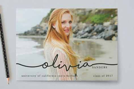 The Stylish, Mature Graduate Graduation Announcements by Metro-Events at minted.com