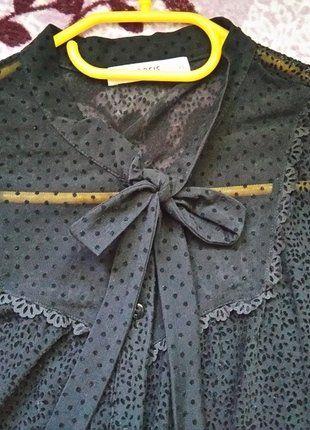 #mgiełka #kropeczki #kokarda #oasis Kup mój przedmiot na #vintedpl http://www.vinted.pl/damska-odziez/koszule/16399964-czarna-koszula-mgielka-oasis-3436