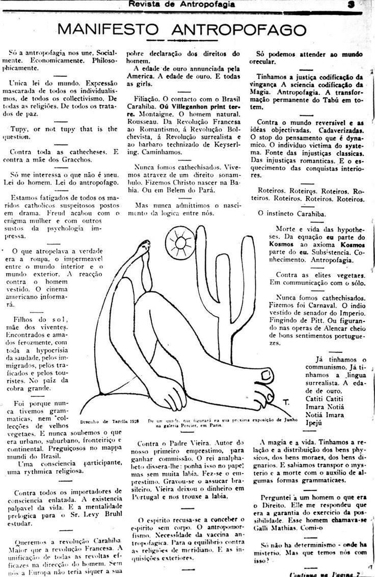 Oswald de Andrade, 1928 (ilustração: O Abaporu, de Tarsila do Amaral)