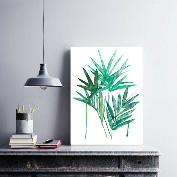 PALM LEAF PRINTABLE  Watercolor Original Artwork  by theartcitizen