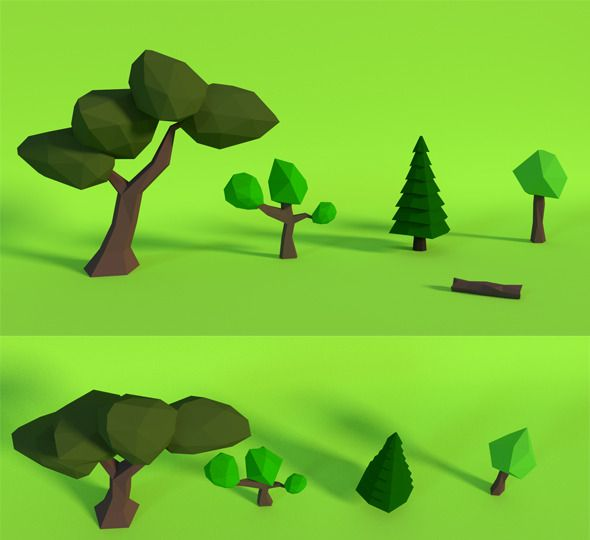 LowPoly Trees .Pack1