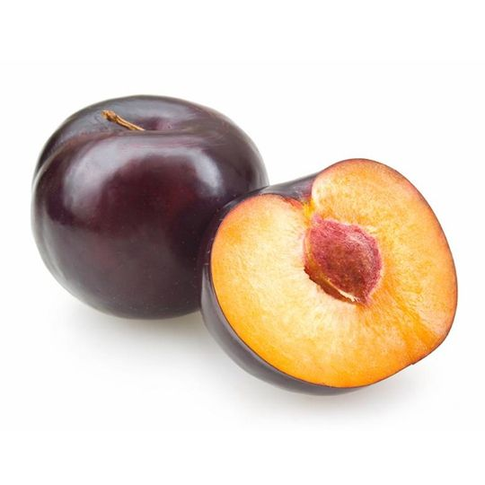 Plums Health Benefits  Juicy summer season plums offer significant antioxidant protection with their high quantities of phenols and vitamin C—the latter of which also assists your body in iron absorbtion. To use in the NutriBullet, first rinse the fruit, cut it in half and remove the pit. You may leave the skin on.