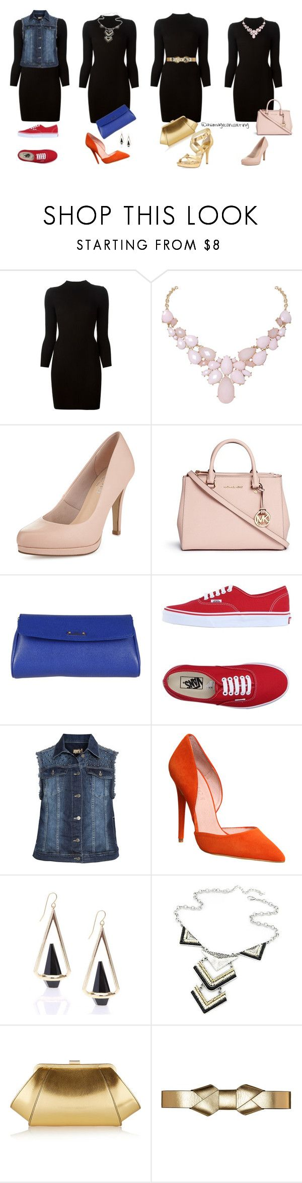 """""""one dress many options"""" by avconsulting on Polyvore featuring moda, Maison Margiela, Humble Chic, Michael Kors, Fendi, Vans, aprico, Office, WithChic y ZAC Zac Posen"""