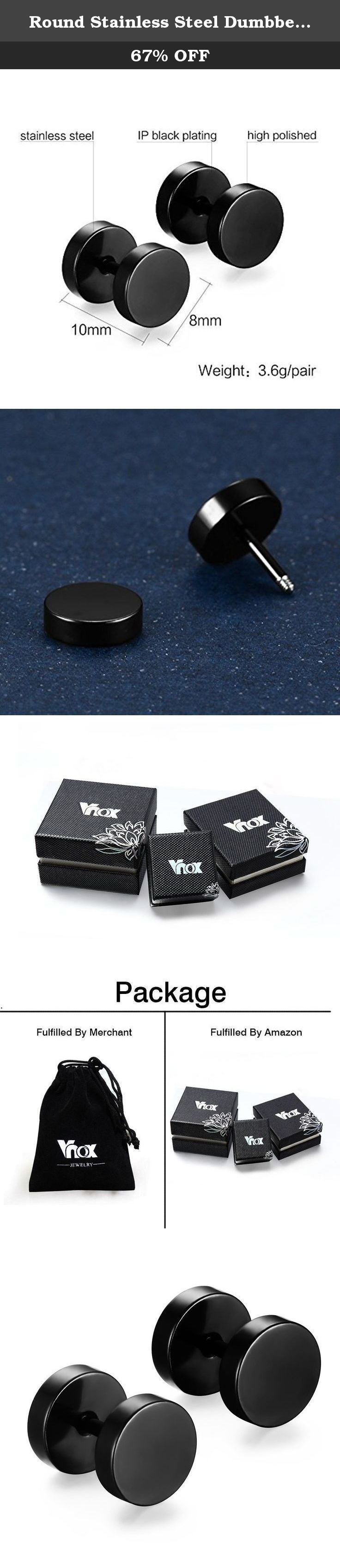 Round Stainless Steel Dumbbell Ear Stud Earrings for Unisex,Black. The Vnox Discover the Vnox of elaborate and fashion jewelry. The high-quality jewelry featured in the Vnox offers great values at affordable Price, they mainly made of high quality Stainless Steel,Tungsten,Alloy and Leather. Find a special gift for a loved one or a beautiful piece that complements your personal style with jewelry from the Vnox. Stainless Steel Stainless steel has increasingly grown as a popular metal…