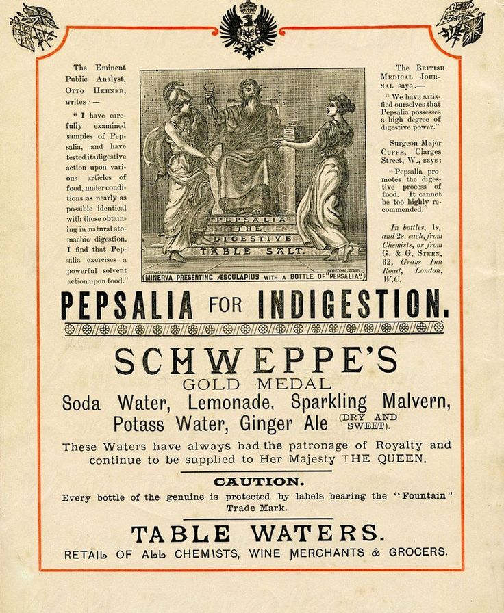 From London 1891 an advertisement for Schweppe's table waters.