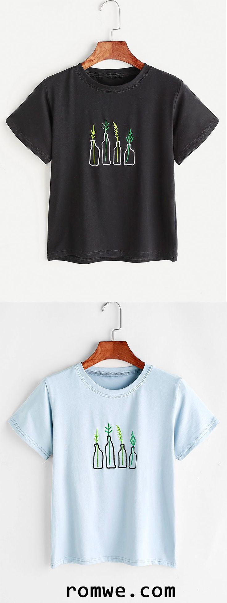T shirt design york pa - Plant Embroidery T Shirt