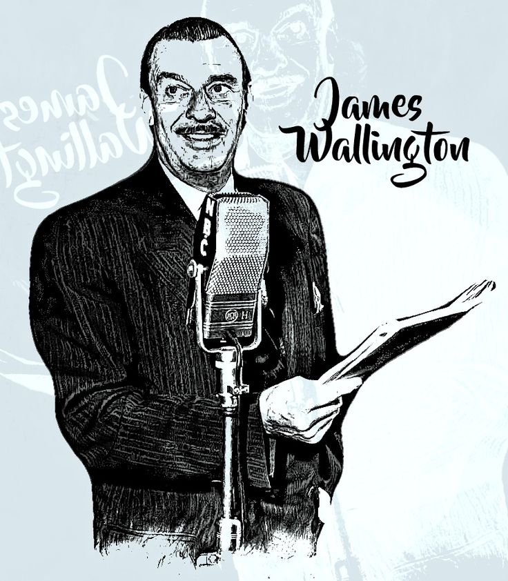 """James Wallington as he was known, is considered one of the early """"golden boys"""" of radio. Although he was known for his participation in many civic activities in Southern California during his years here, his greatest fame came when he was the announcer on the Eddie Cantor and Fred Allen radio shows of the '30s and '40s. He originally came to the West Coast with the Cantor show."""