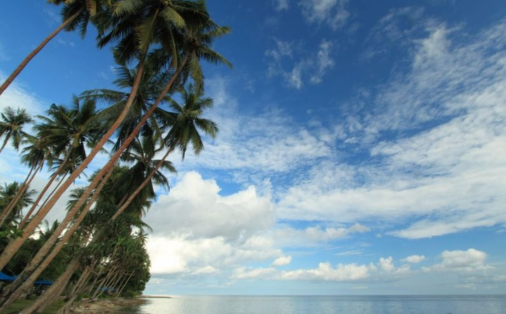 Pantai Namalatu di Negeri Latuhalat, Ambon, Maluku.