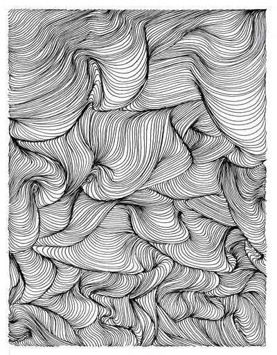 Ein Doodle mit enorm plastischer Wirkung. Sieht aus wie ein Faltenwurf.