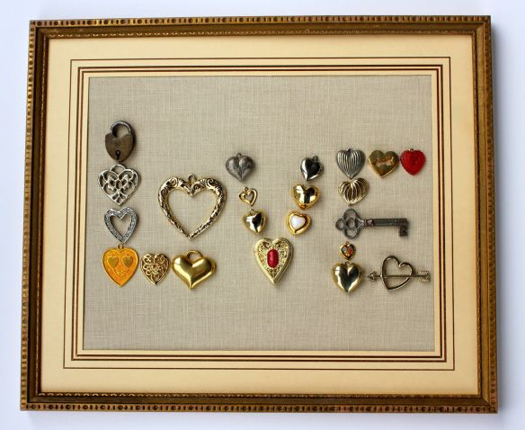 Vintage jewelry artwork.  Hearts = Love!