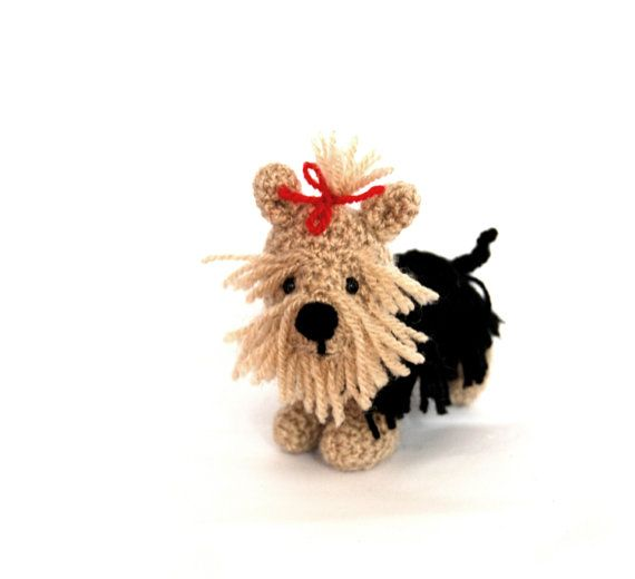 $26.56 Yorkshire Terrier DOG, Crochet #Yorkie Puppy, Amigurumi Dog Doll, Miniature Yorkie Doll, Soft Sculptured Dog, Collectible Dog Pupy, Mini Pet, #surprise from #me