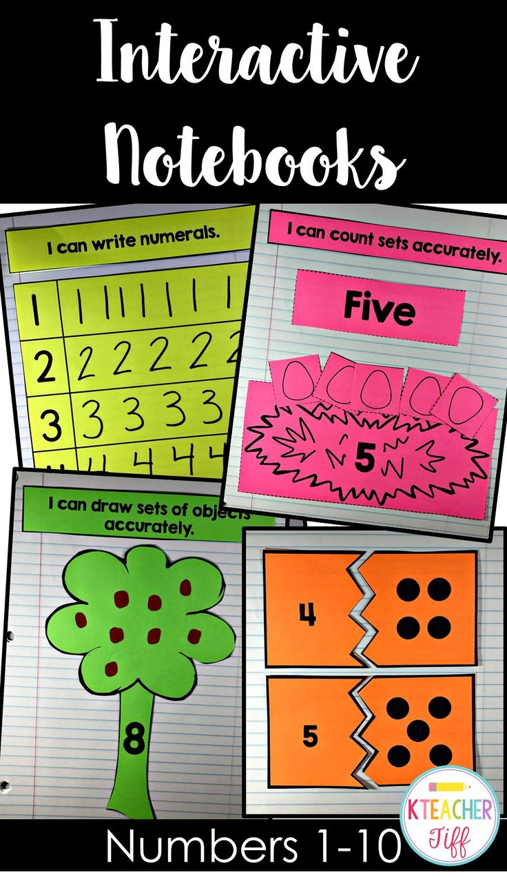 Kindergarten Interactive Notebooks for numbers 1-10. Perfect for independent practice during math centers or daily 3