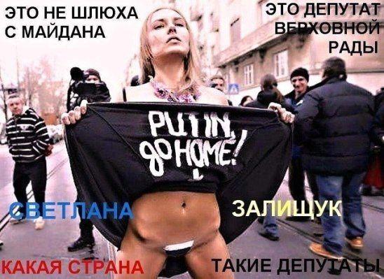 Svetlana Zalischuk - deputy of the Verkhovna Rada of Ukraine. Which country - such deputies