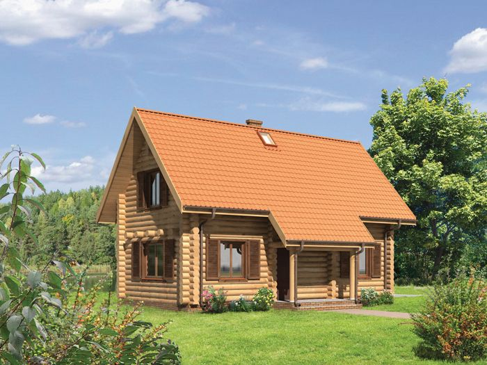 Drewniana konstrukcja budynku sprawia, że świetnie będzie się prezentował na terenach wiejskich czy w regionach turystycznych.