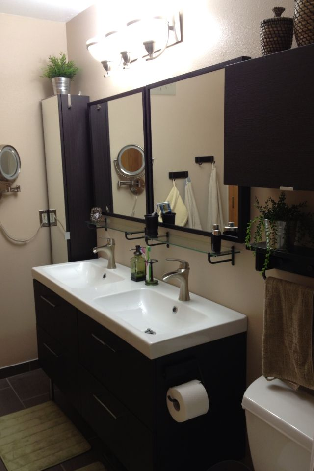 Ikea Bathroom Renovation. David And I Put Together And Installed Everything  Ourselves! :)