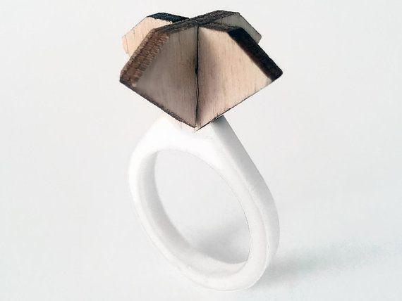 Unique engagement solitaire ring engagement ring by lexioshop