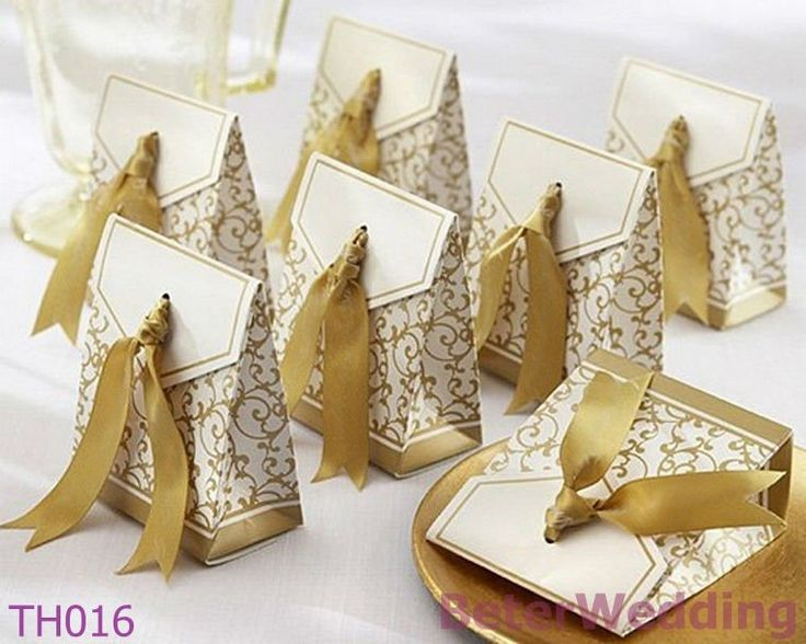 Aliexpress.com : Buy 108pcs 50th Anniversary Favor Box With Gold Ribbon TH016 as Wedding Decoration wedding candy bags_hotel amenity from Reliable wedding Favor Box suppliers on Shanghai Beter Gifts Co., Ltd. $31.00