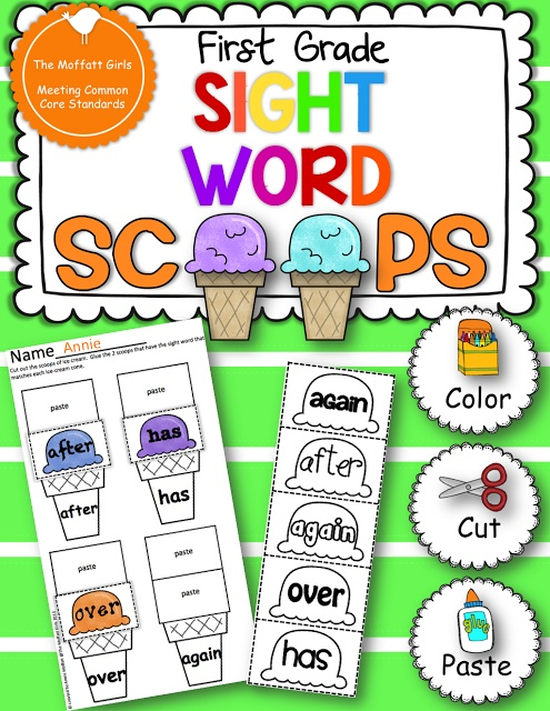 1st Grade Sight Word Scoops!