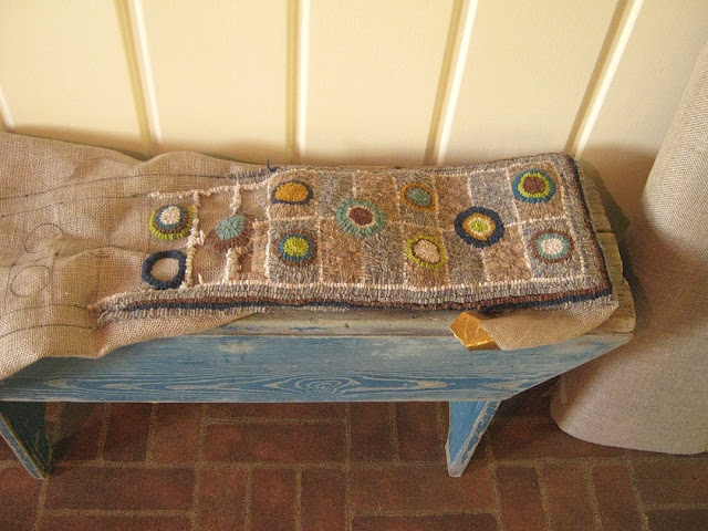 Hooked Bench Rug By Cathy Greschner Rug Hooking
