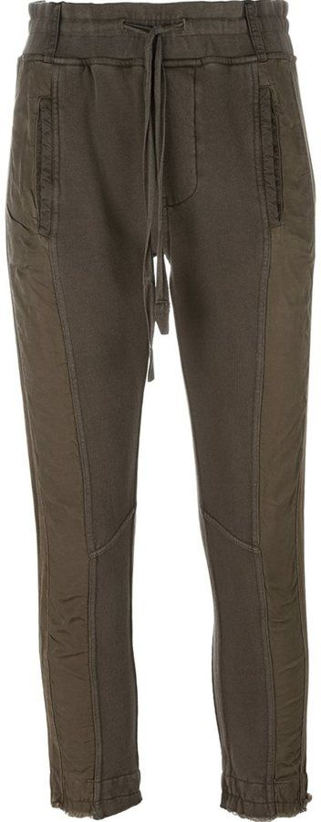 Haider Ackermann panelled cropped trousers