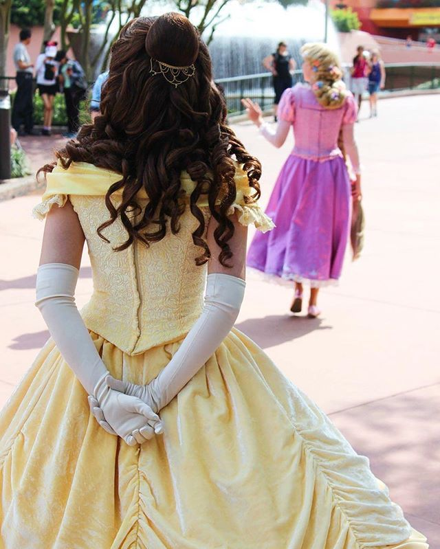 Disney girls belle and rapunzel
