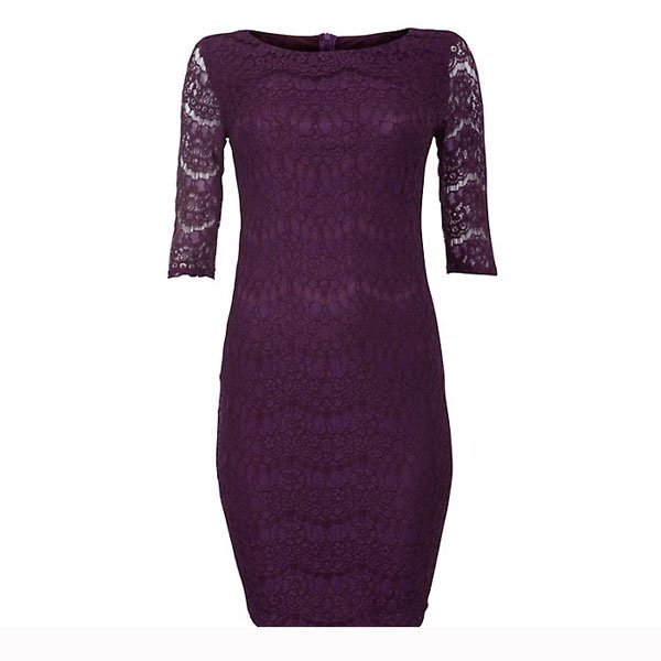 Purple lace ¾ dress - £24.99…