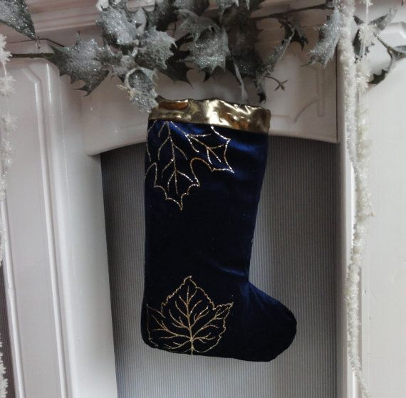 CHRISTMAS STOCKING BLUE by ThingsMadebyDesi on Etsy