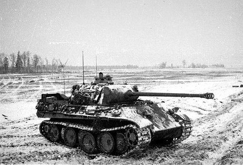 Panther, a German tank that easily would have been the most powerful tank in WWII if it hadn't had so many reliability problems.