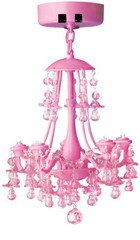 Pink Locker Chandelier.Cute, Such a neat idea. They would be cute over an american girl doll dining room table or in one of my dolls rooms.