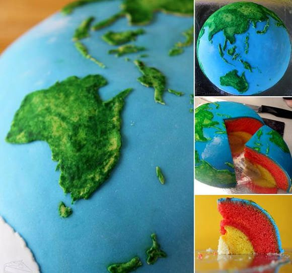 Planetary Cakes - Earth Structural Layer Cake