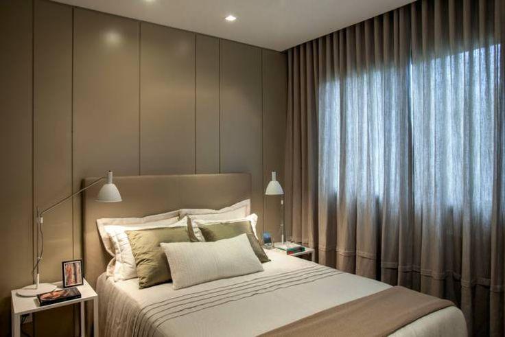 Apartamento decorado RJZ -: Quartos translation missing: br.style.quartos.moderno por Gisele Taranto Arquitetura