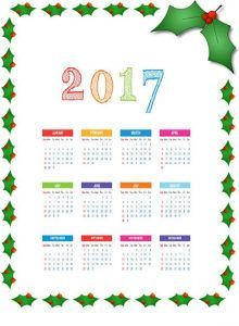 2017-calender-3 | Crafts and Worksheets for Preschool,Toddler and Kindergarten