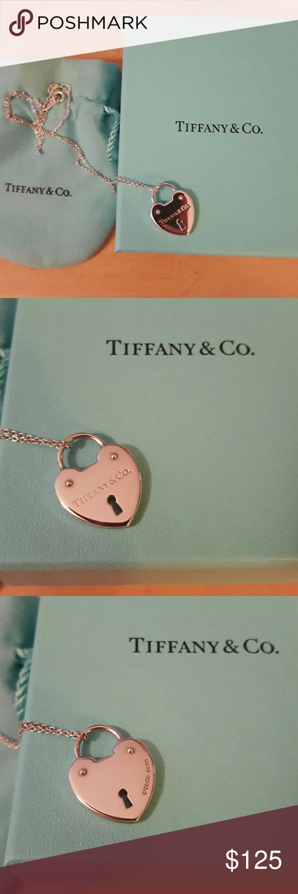 Tiffany & Co Sterling Silver Necklace Authentic Tiffany & Co Sterling Silver heart locket necklace. Tiffany & Co. Jewelry Necklaces